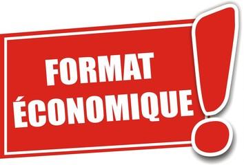 étiquette format économique