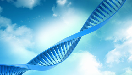 Digital illustration of a dna in abstract background.