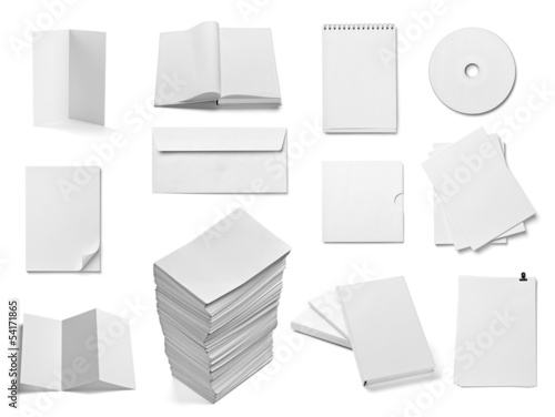 leaflet notebook textbook envelope blank paper template book