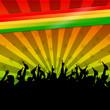 Постер, плакат: hintergrund regenbogenfarben reggae II