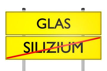 Strassenschild_Glas vs Silizium - 3D