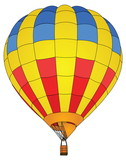 Hot Air Balloon Vector for Transportation Concept.
