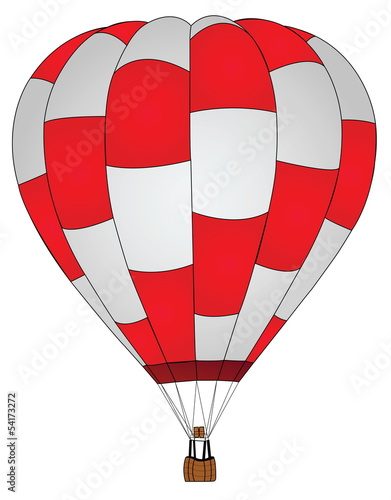 Hot Air Balloon for Transportation Concept.