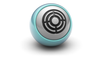 Target icon on ball. Looping.