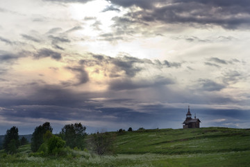 Rural landscape on a Kizhi Island, Russia