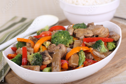 Bowl of Beef Stir Fry