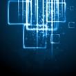 Dark blue technology background. Vector card eps 10
