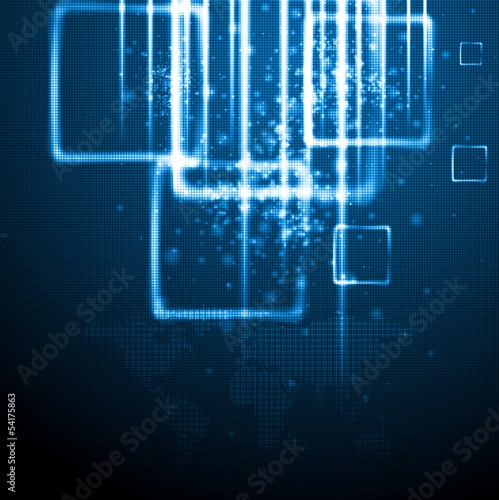 Dark blue technology background. Vector card eps 10