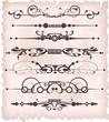 Vector set. Victorian Scrolls