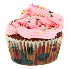 Cupcakes Américain Rose avec Paillette