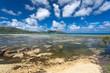 marée basse aux Seychelles