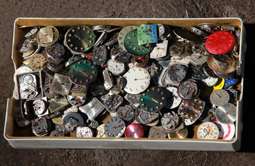 pile of old clockwork