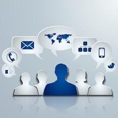 contact social media concept