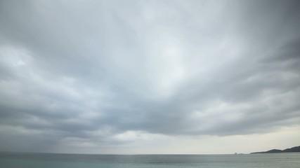 曇り空のタイムラプス