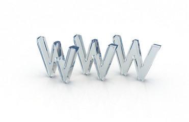 world wide web www 3d letter