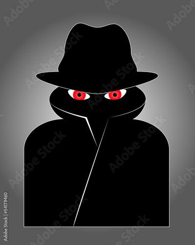 Spion mit roten Augen