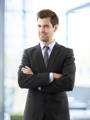 Portrait of professional smiling businessman