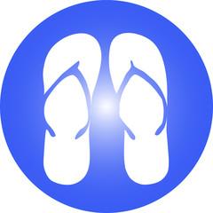 Sommer Ferien Logo mit Flip Flop