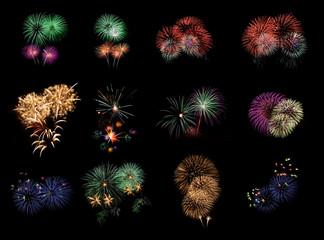colourful Firework set