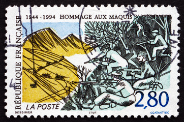 Postage stamp France 1994 Resistance of the Maquis