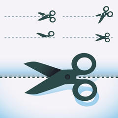 Vector scissors icons