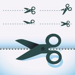 Vector scissors icons