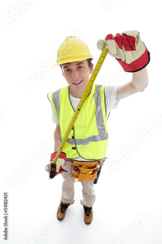 Apprentice builder or carpenter