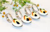 Gefüllte Eier mit Kaviar