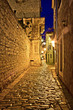 Narrow stone street in Vodice