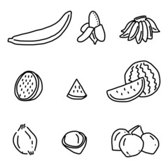 hand drawing fruits