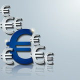 euro 3d vector background