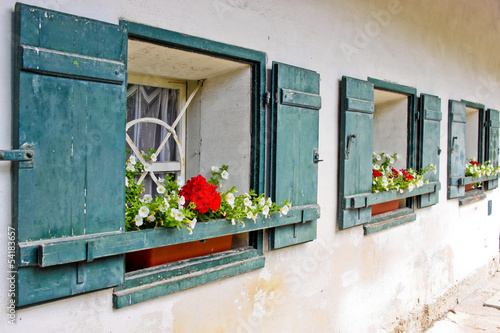 windows of a country house