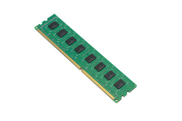 computer ram memory in white background