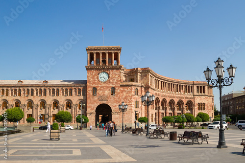 Buildings on a main square of Yerevan, Hraparak