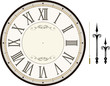 vintage clock face template vector - 54186048