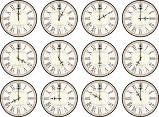 vintage clocks times