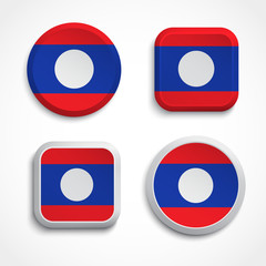 Laos flag buttons