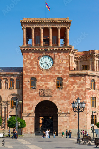 Tower with hours in Yerevan, Hraparak