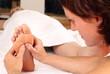 Leinwanddruck Bild - Professionelle Fußreflexzonenmassage