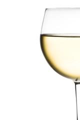 half glass of white wine
