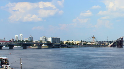 bridges on the Dnipro, Kyiv
