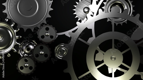 loopable background with gears movement end alpha