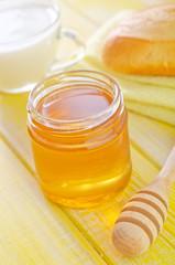 honey,bread and milk