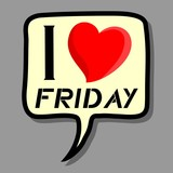 I love Friday sticker