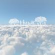 雲海と樹木と人物
