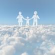 雲海と人物イメージ