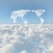 雲海と世界地図の雲