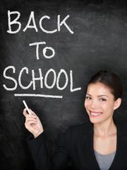 Back to school chalkboard blackboard teacher