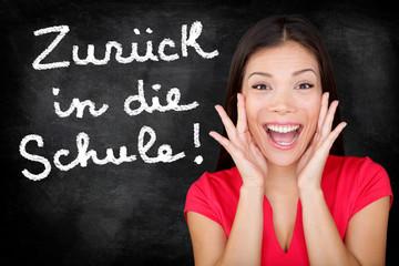 Zuruck in die Schule German student back to school