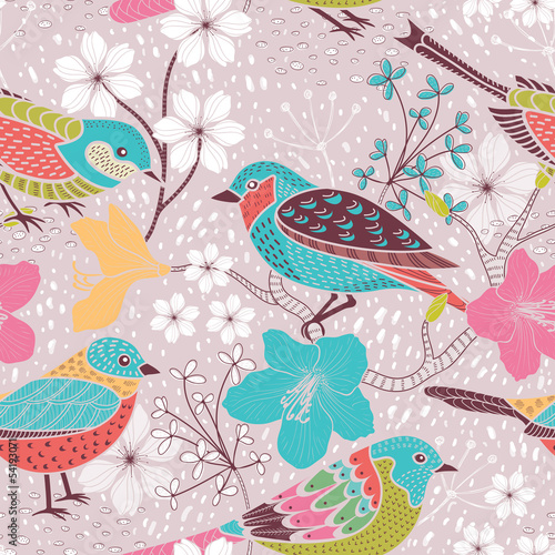 Seamless floral pattern - 54193071
